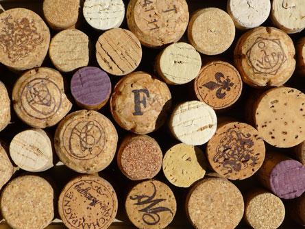 Bouchons de bouteille de vin en liège