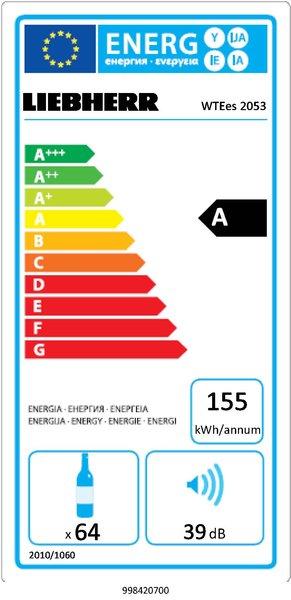 Etiquette énergétique d'une cave à vin