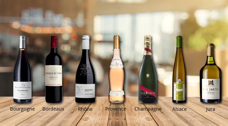 Formes de bouteilles de vin