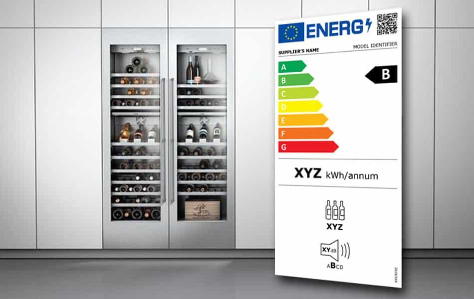 Etiquette énergie 2020 pour les caves à vin électriques