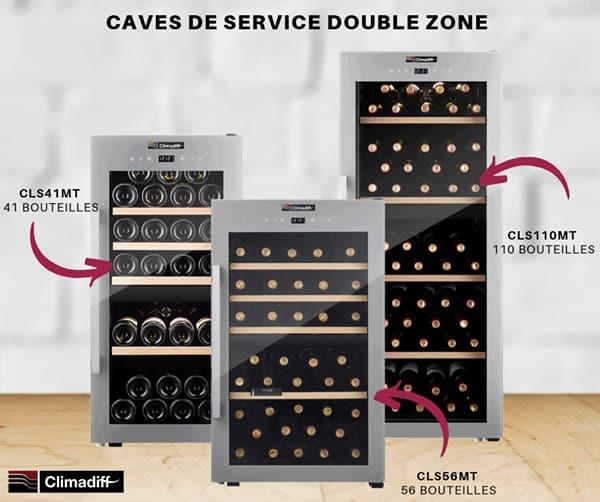 Cave à vin de service Double Zone Climadiff
